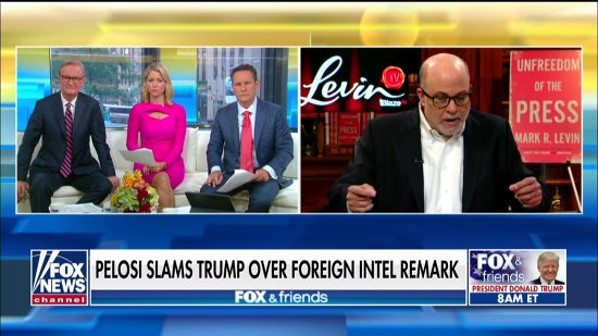 photo image Mark Levin Flips Out On Nancy Pelosi:  'Fascistic' To Call Trump Criminal