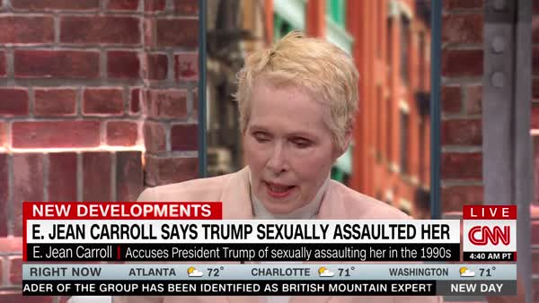 Author Who Says Trump Raped Her: 'I Am Sick Of It'