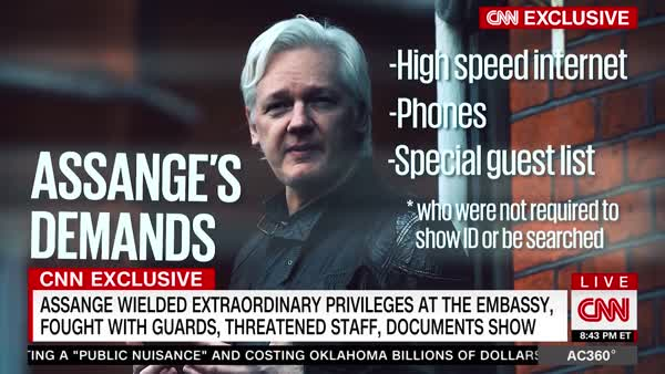 CNN Reports New Details About Julian Assange And DNC Emails