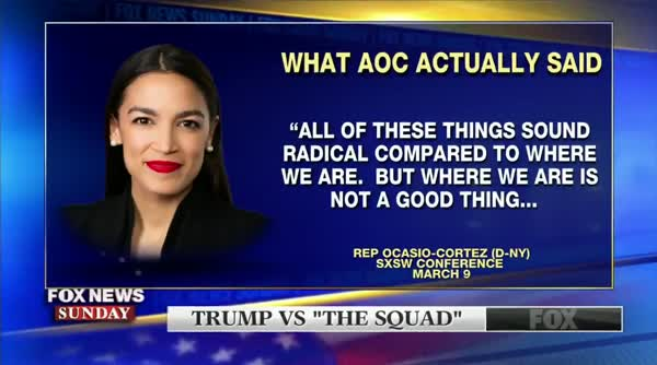 Chris Wallace Reads AOC's Actual Words To Stephen Miller