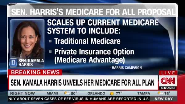 Kamala Harris Unveils Her Medicare For All Plan Before Debate