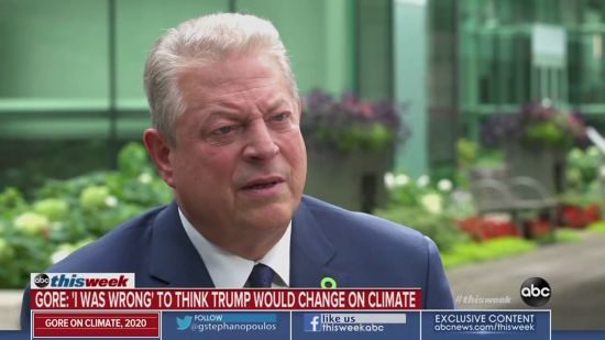 Al Gore Thought He Could Change Trump On Climate Change, He Was Wrong