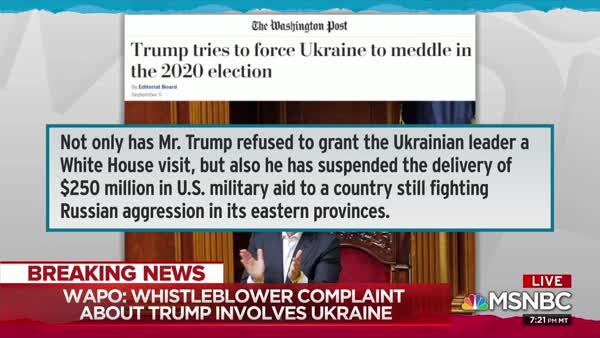 Reports: Trump Tried To Extort Ukraine Into Investigating Biden