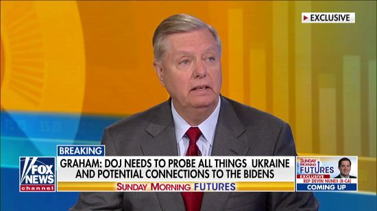 Lindsey Graham Pushes DOJ To Investigate Biden Ukraine Conspiracy