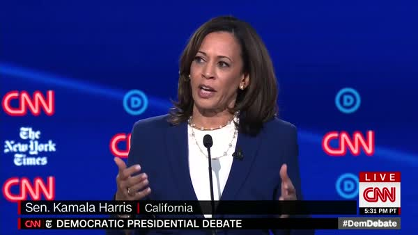Finally! Senator Harris Brings Up Women's Reproductive Rights In CNN Debate