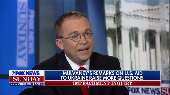 Mulvaney Melts Down When Fox's Chris Wallace Plays Tape Of Quid Pro Quo Admission
