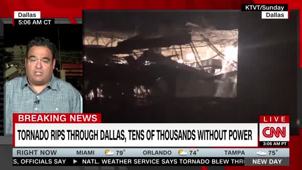 Tornado Hits North Dallas Last Night