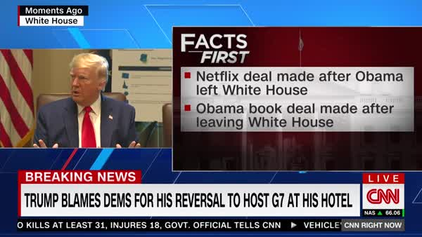 CNN Fact-Checks Trump's Claims In Split Screen