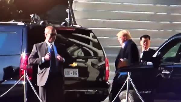 WATCH: Apparent Rush To Take Trump To Walter Reed