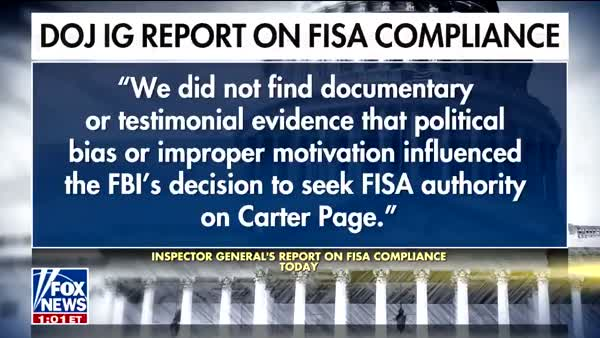 Even Fox News Must Admit, IG Report Is Death Of FISA Conspiracy Theories