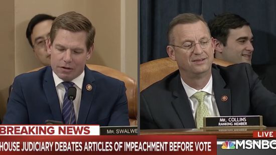 Doug Collins Melts Down After Eric Swalwell Calls Him Out