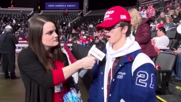 Trump Supporter Flummoxed By Question