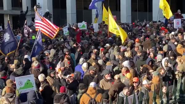 'Militia' Gun Rally Won't 'Comply' With Pledge Of Allegiance