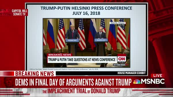 Schiff: Trump's Helsinki Treason Summit With Putin Was 'An Intelligence Coup' For Putin