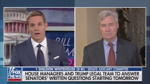 Sen. Sheldon Whitehouse Flummoxes Fox News' Anchor