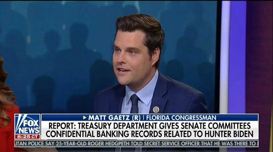Matt Gaetz Wonders Aloud About Nepotism...in The Senate?