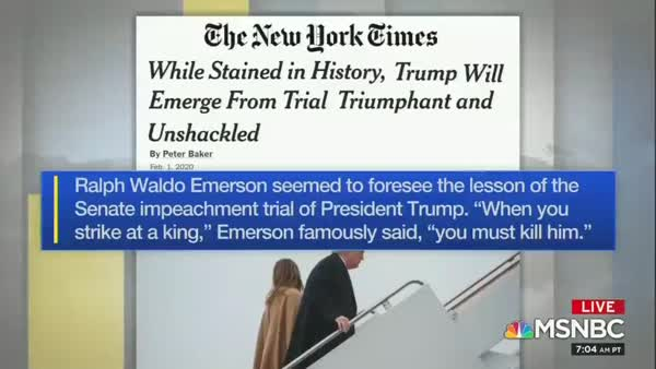 Trump Agrees With NY Times Quote Likening Him To A King