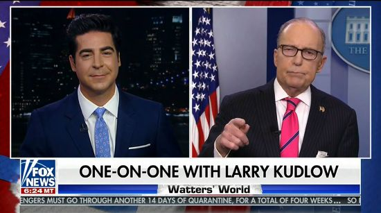Sloshed Larry Kudlow Tells Fox News The White House Has No Control Over Agencies It Controls