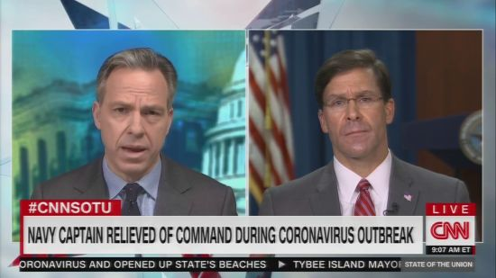 Defense Secretary Esper Promises Investigation After Captain Crozier Already Fired