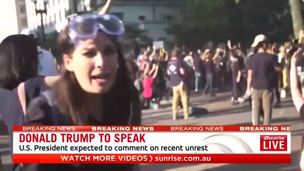 Australian News Crew Attacked By Cops At DC Protest