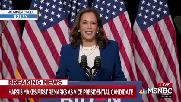 Sen. Kamala Harris' Hammered Trump And Pence In Her First Speech As Joe Biden's Running Mate