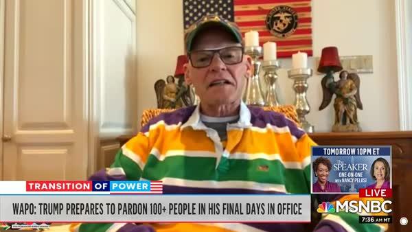 James Carville Laughs At Trump's Pardonpalooza
