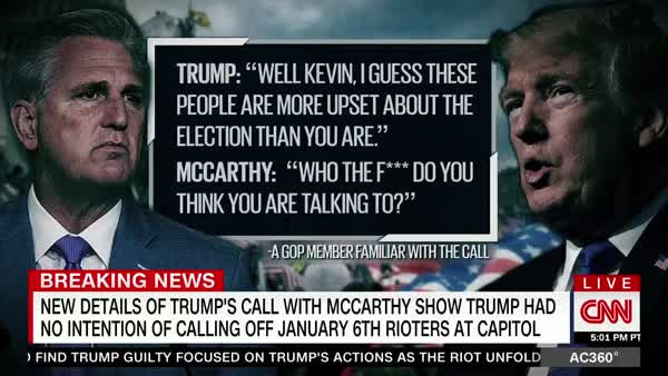Trump Had 'Expletive-Laced' Call With McCarthy, Siding With Rioters