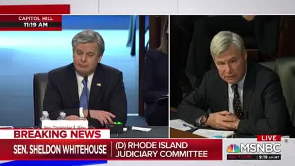 Sen. Whitehouse Rages At FBI Director For Obstructing Senate