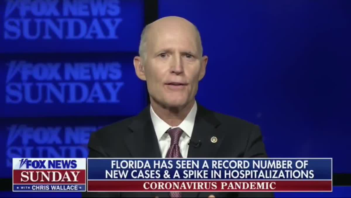 Mealy Mouth Rick Scott wishes COVID vaccines weren't so political