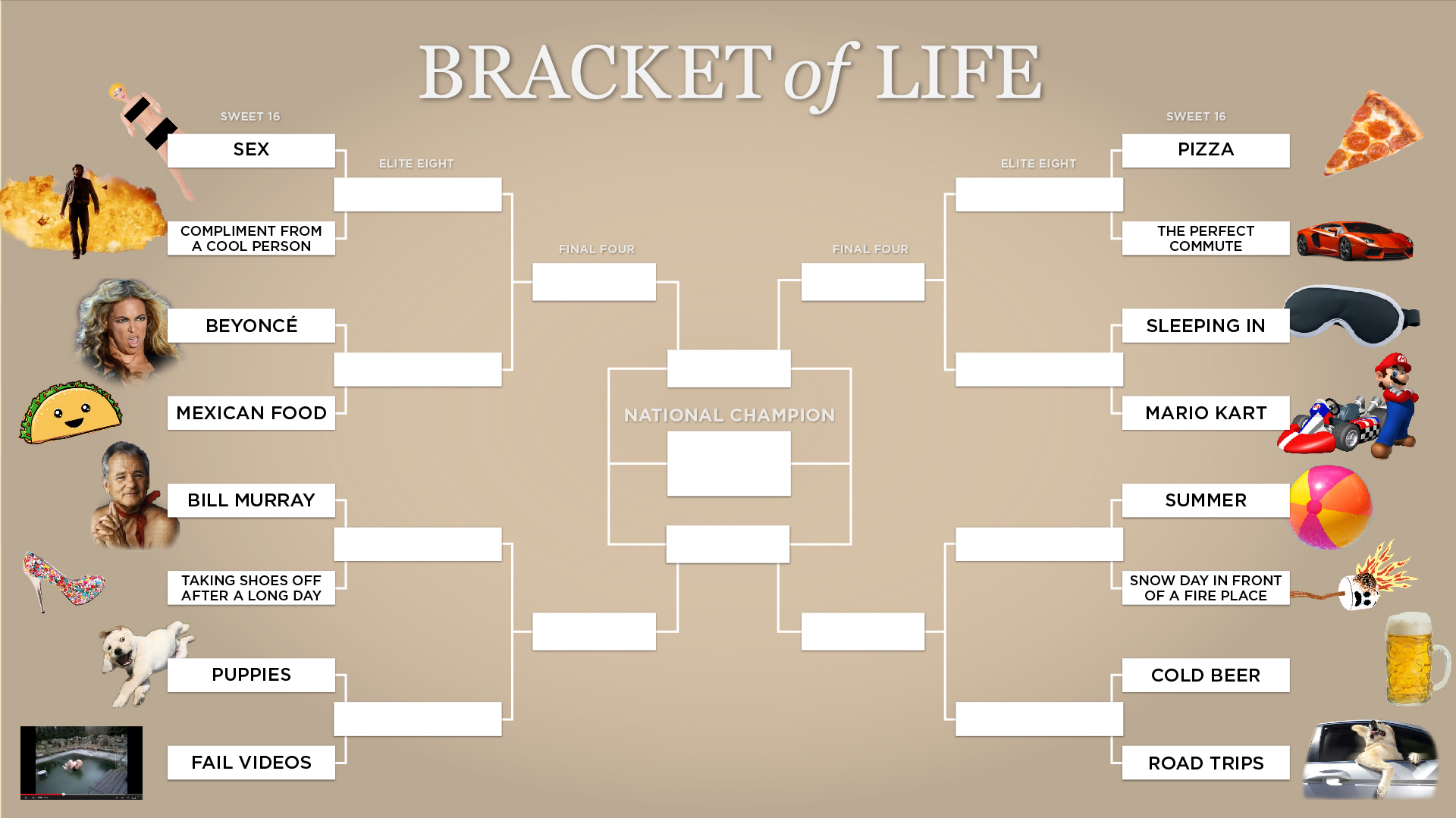 Open Thread - Life's REAL Brackets   Crooks and Liars