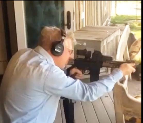 Glenn becks angrily shoots rifle on radio show over chris mcdaniel s