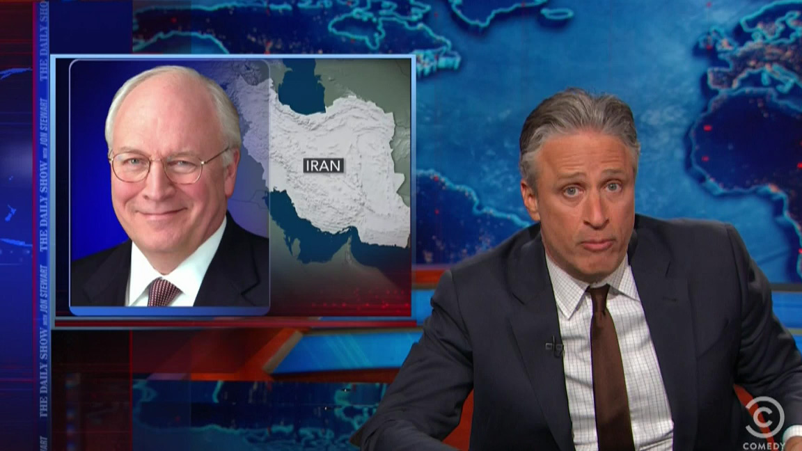 jon stewart rips apart dick cheney for aiding and abetting
