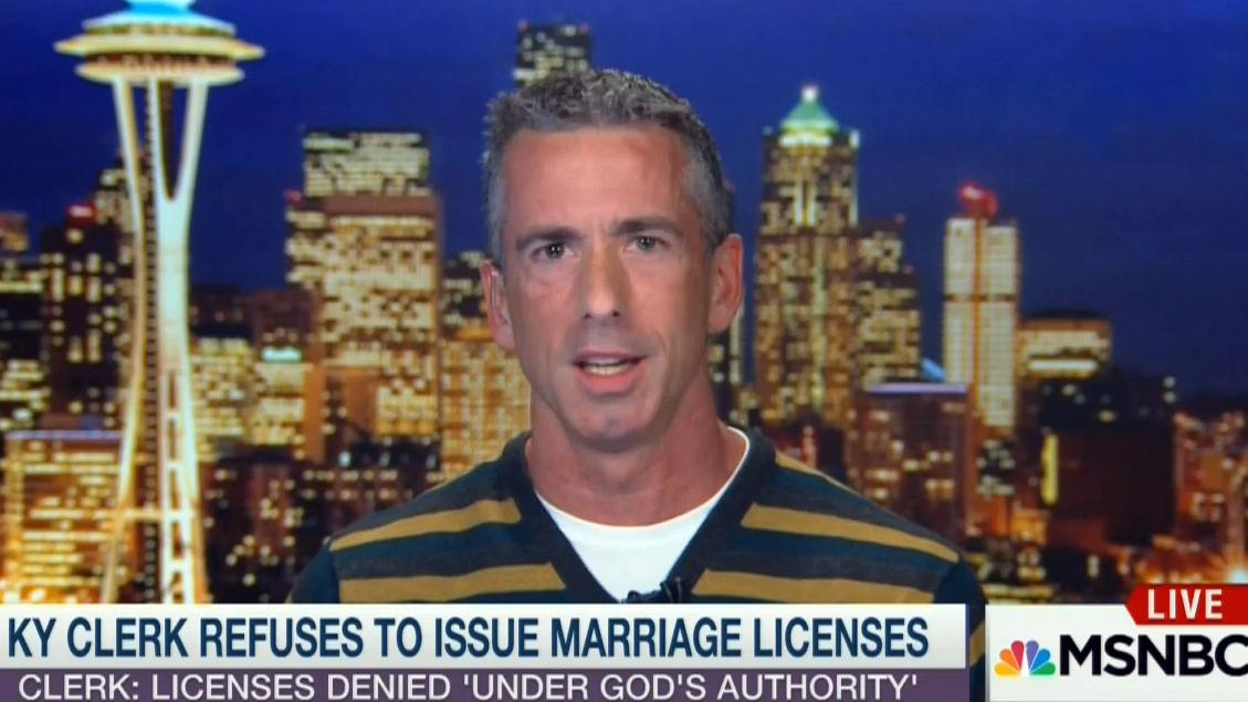 Dan Savage Issues Epic Take-down of Hypocritical Kentucky Clerk Kim Davis