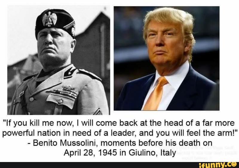 Image result for picture of trump and mussolini
