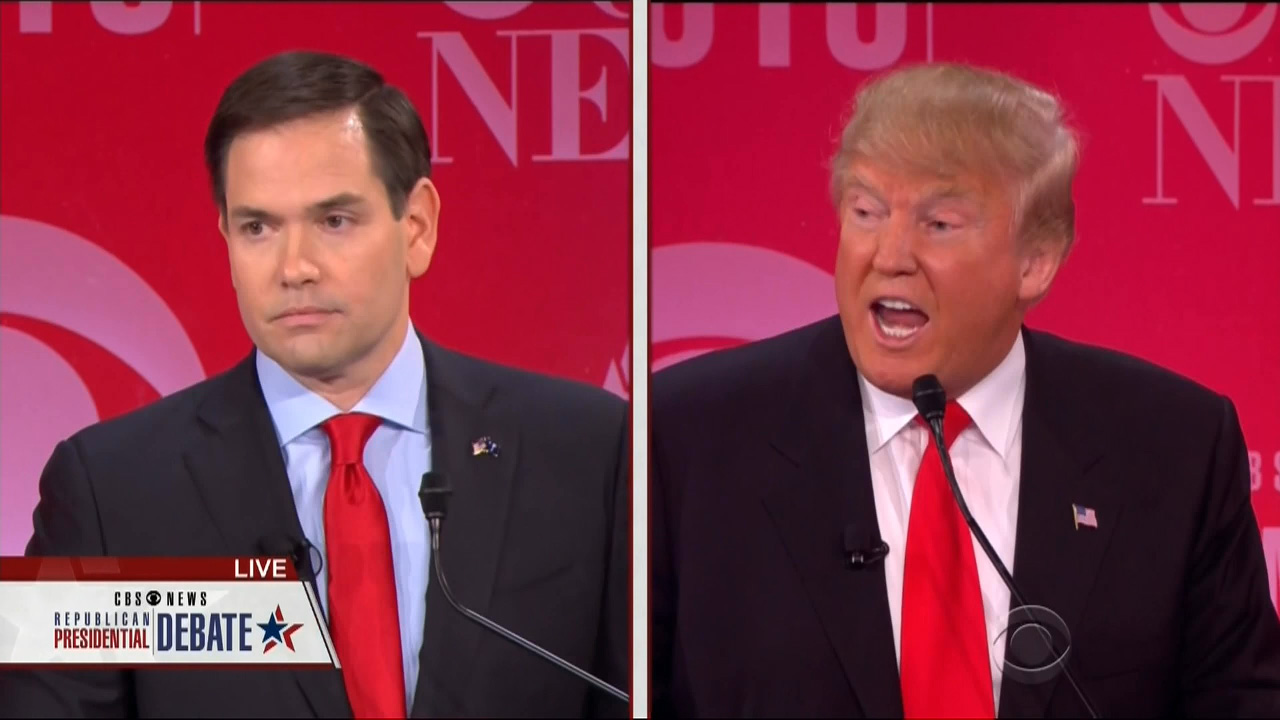 Trump Smacks Down Rubio For Defending Bush On Iraq