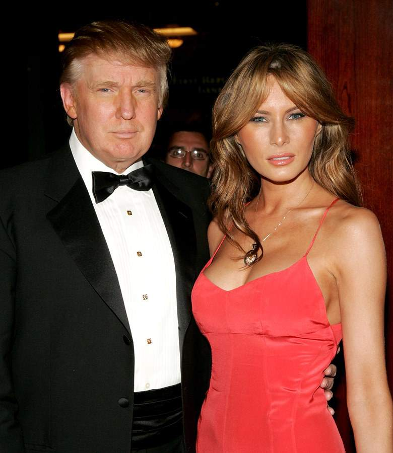 Trump Woos Damerne med sin kone Melania skurke og løgnere-6184