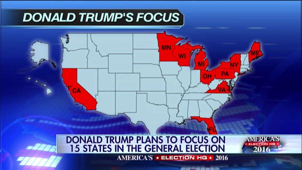 Foxs Imaginary Unicorn Trump Win Map Includes California Crooks - Map of us vote 2016 dumb