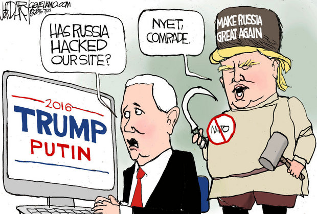 Image result for trump russia hack