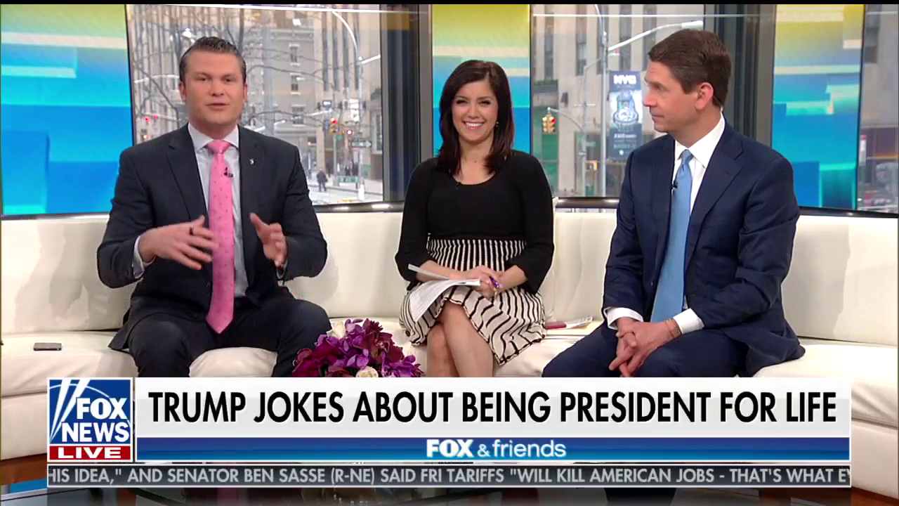 Fox & Friends Covers For Trump's 'President For Life ...