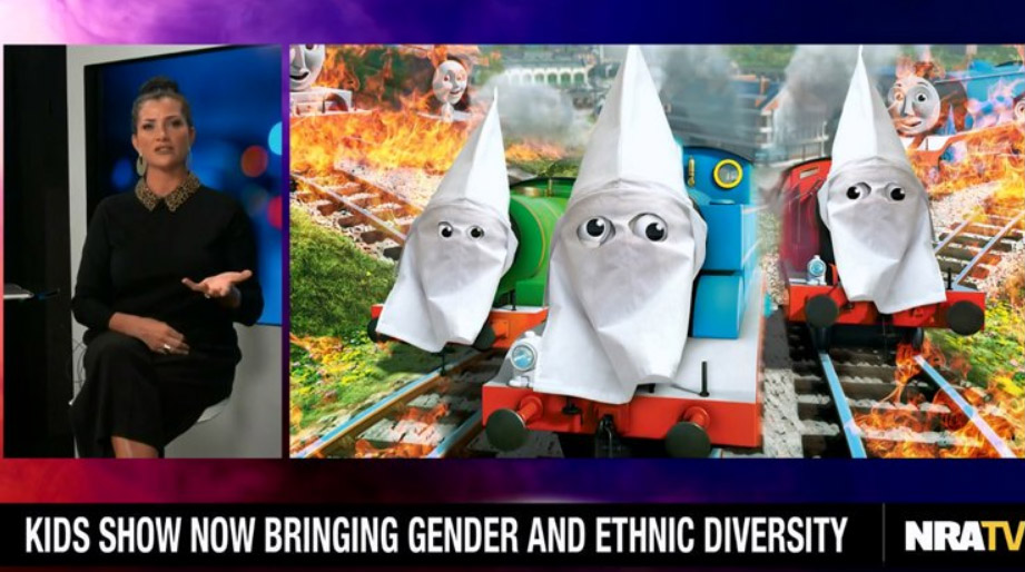 Dana Loesch Defiles Thomas The Tank Engine With KKK Hood