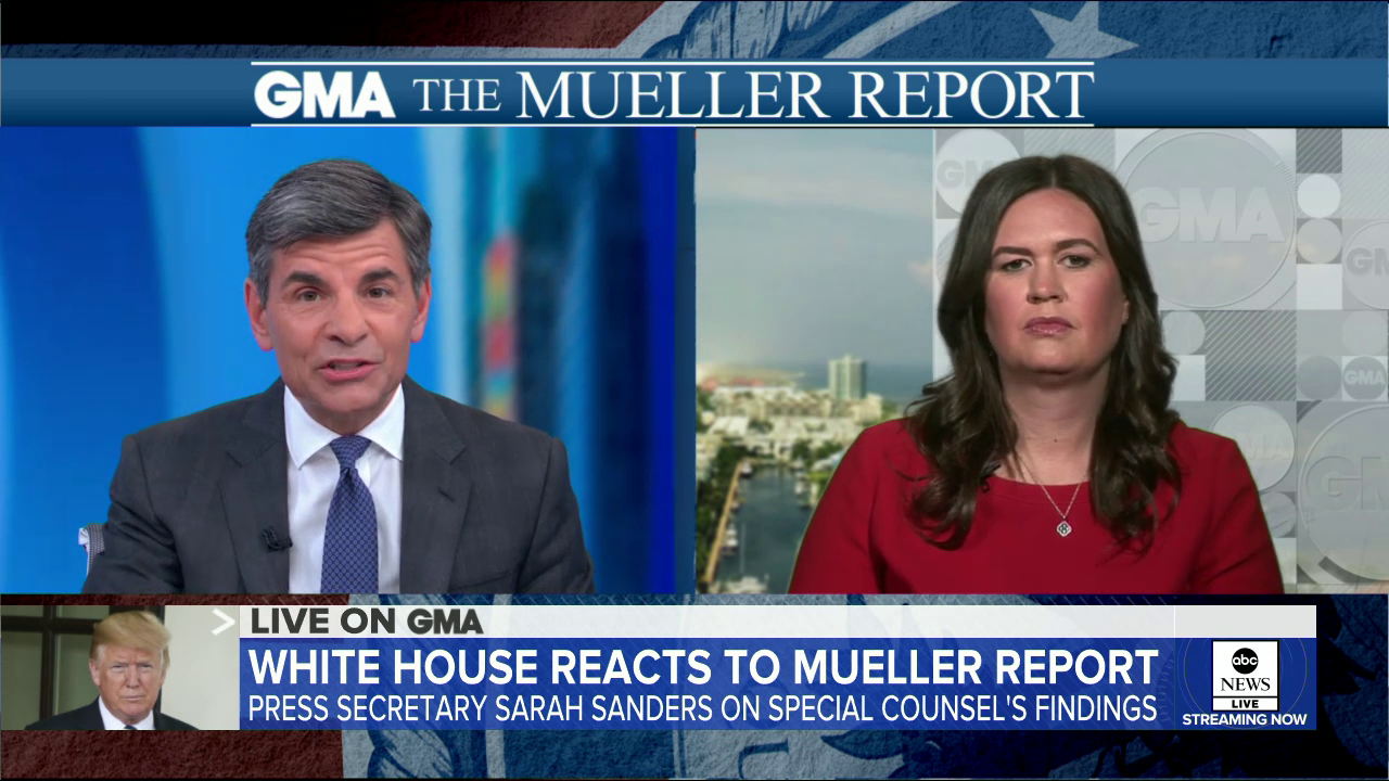 Stephanopoulos Grills Huckabee Sanders Over 'Deliberate False Statement' On Comey Firing