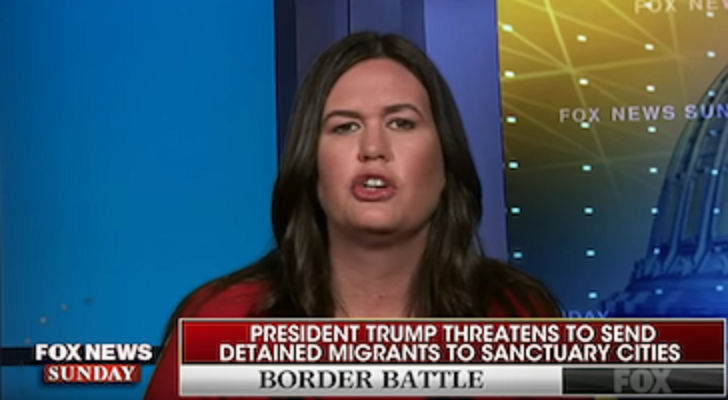 photo image Huckabee Sanders: If Trump Illegally Sends Immigrants To Sanctuary Cities, It's Democrats' Fault