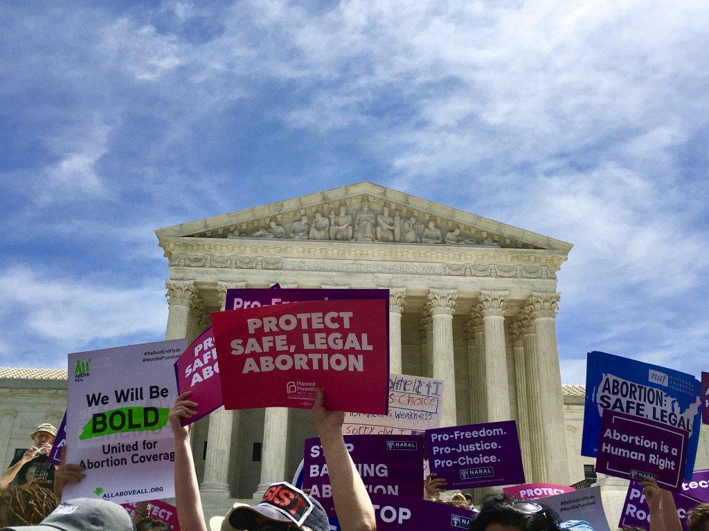 Democrats Join Rally At SCOTUS To Stop Abortion Bans
