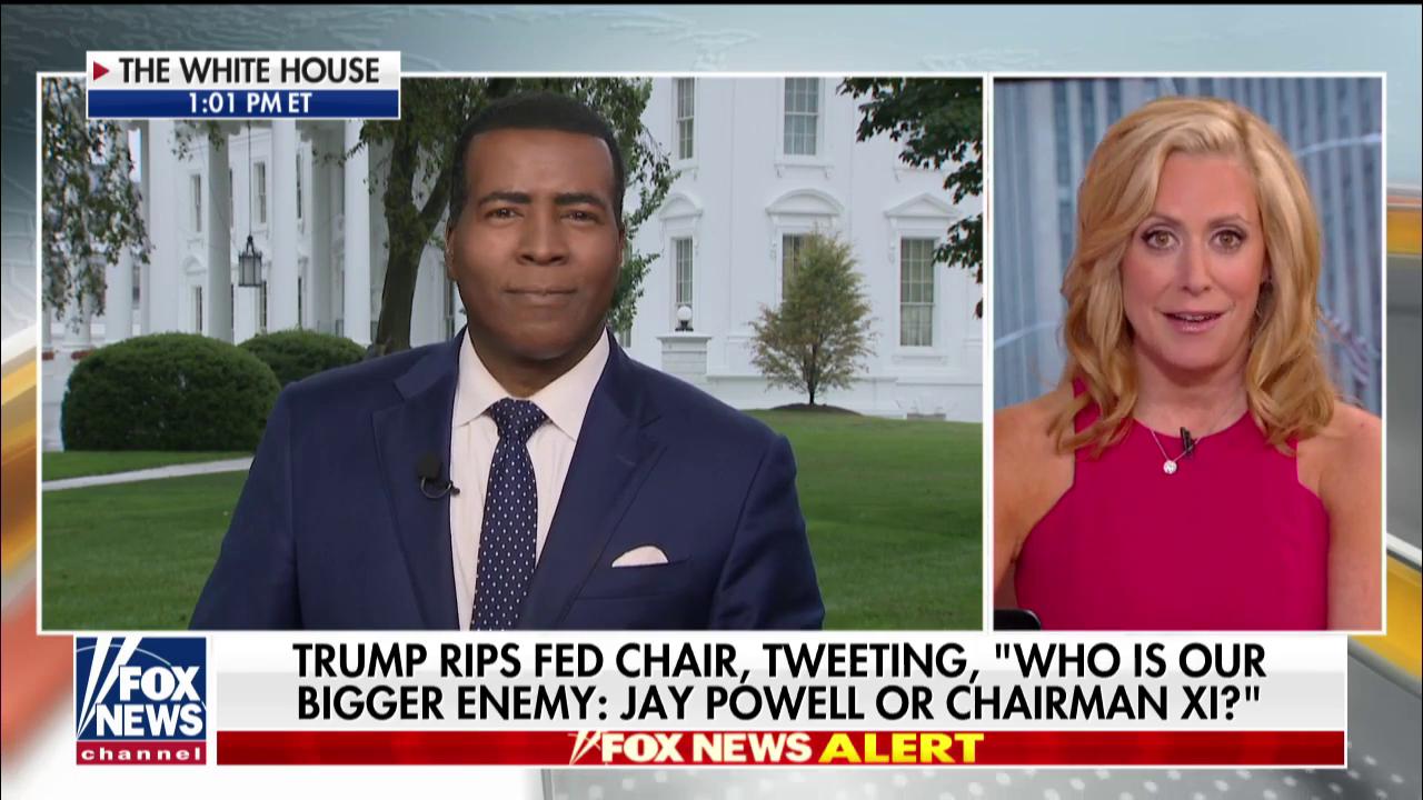 As Trump Tweets Tanked Stocks, Fox 'Straight News' Correspondent Helped Him Blame Powell