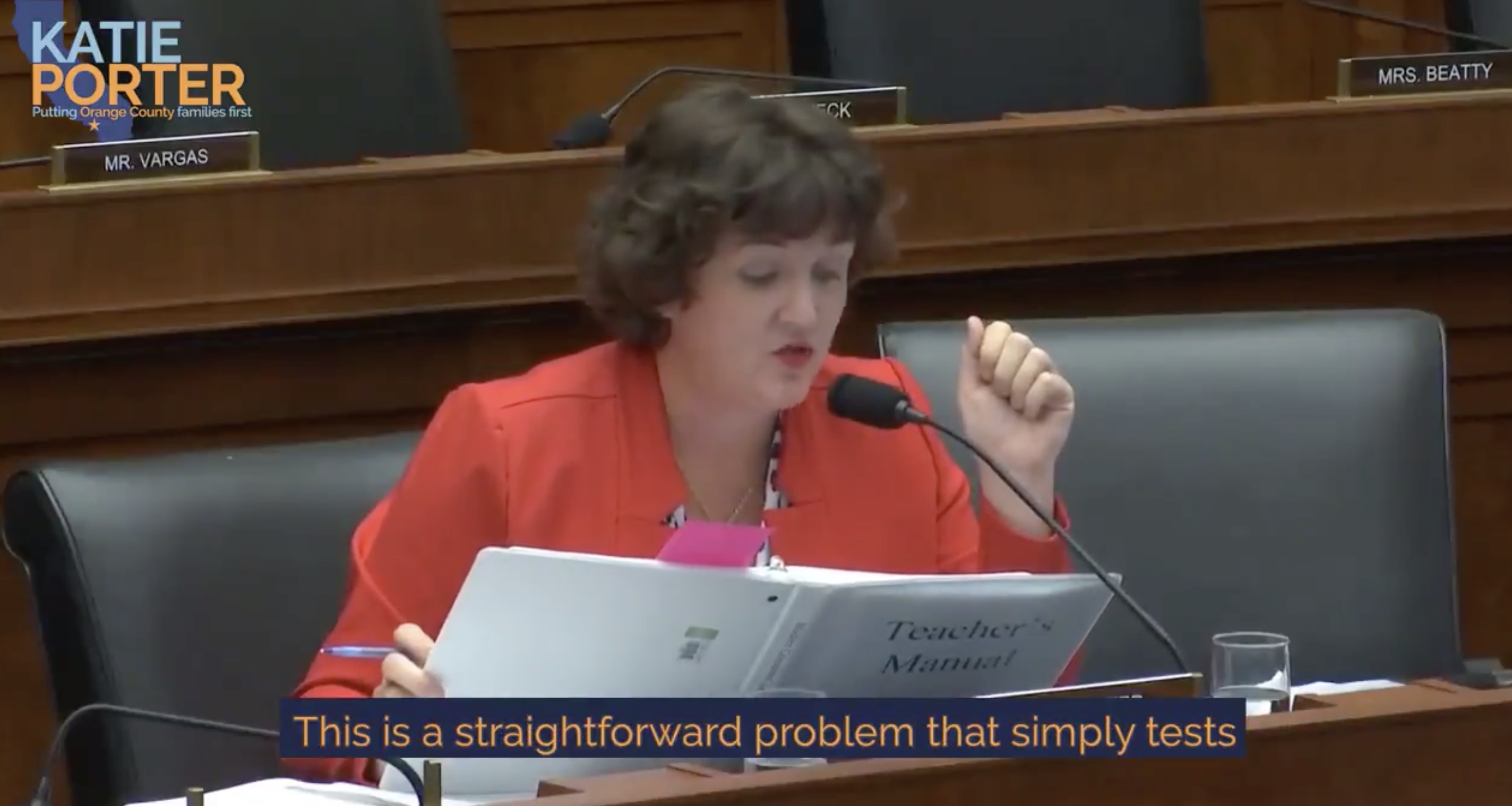 Rep. Katie Porter Destroys CFPB Director With Math