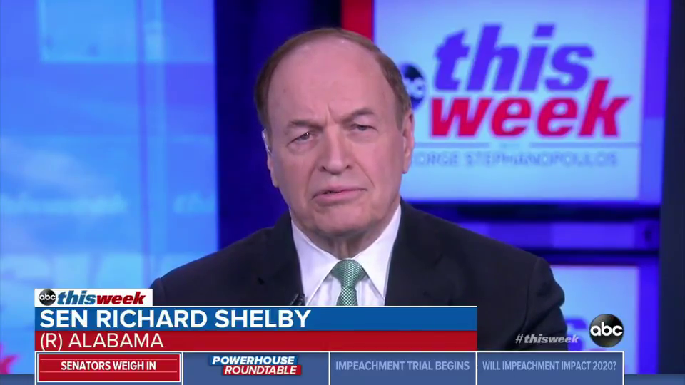 Sen. Richard Shelby Excuses Trump's Criminal Acts As 'Political Statements'