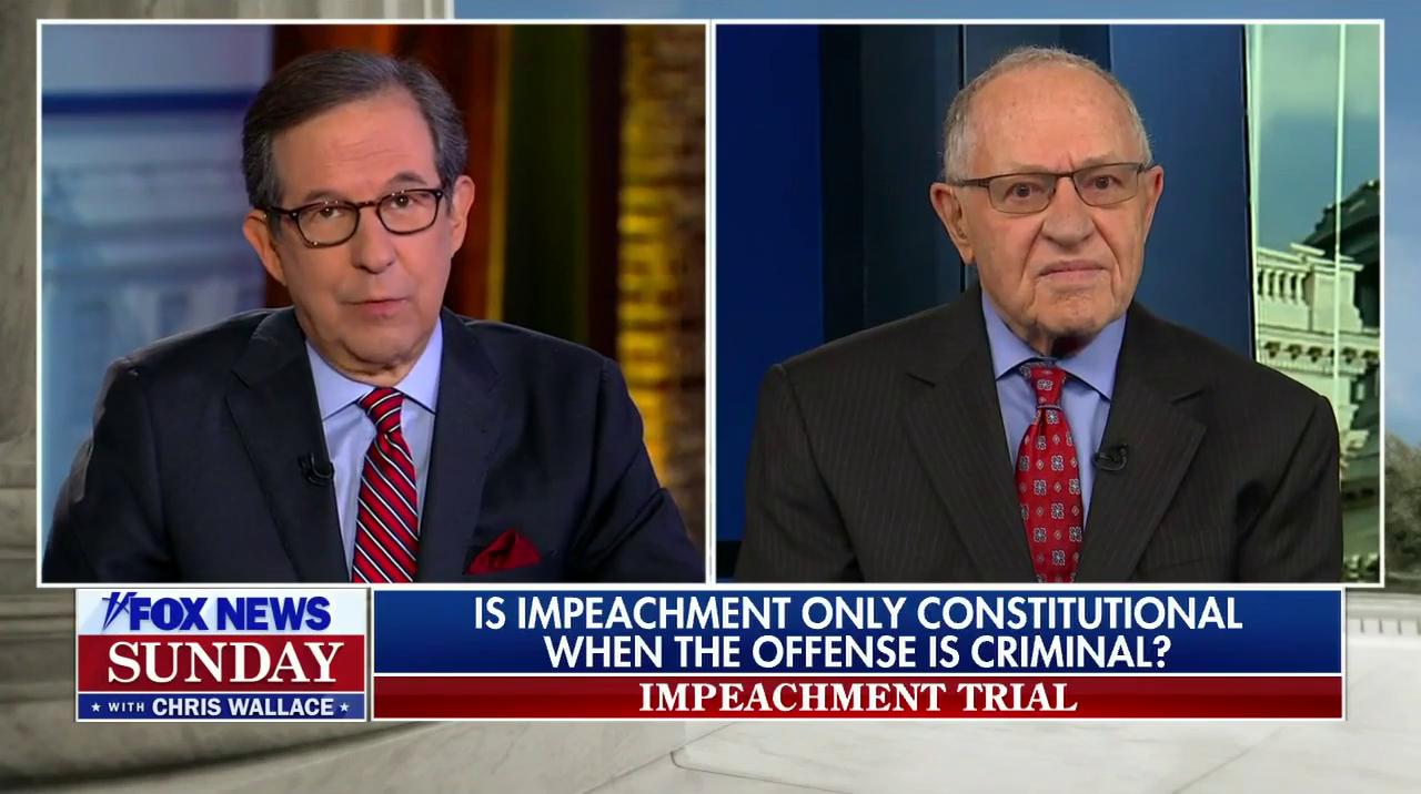Fox Host Challenges Trump Attorney Dershowitz Over Flip-Flop On Impeachment