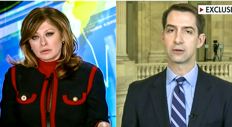 Tom Cotton Takes Conspiracy Theory That Coronavirus Is Chinese Biological Warfare To Fox News