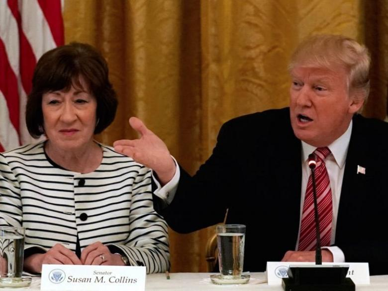 Trump Shows Susan Collins The Lesson He Learned: Don't Let Anyone Listen To Your Criming