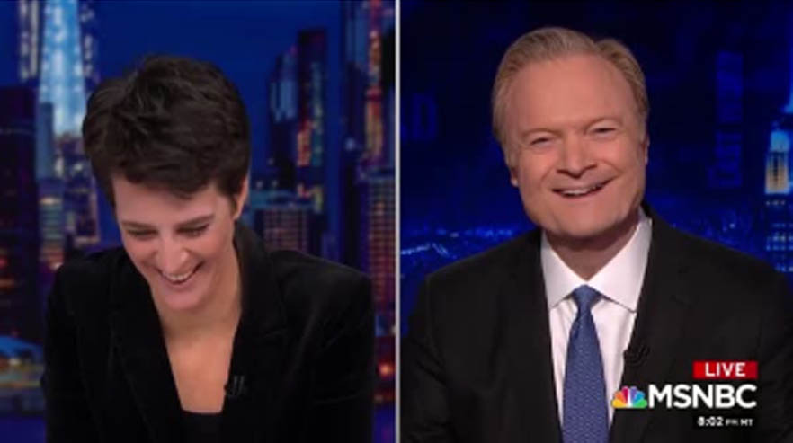 That Time Lawrence Made Rachel Laugh Out Loud